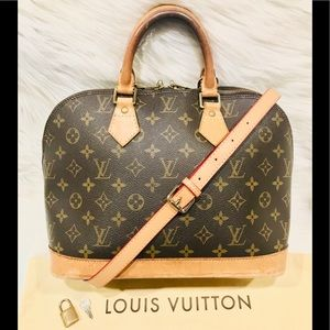 Authentic Louis Vuitton Alma Tote #1.2Q